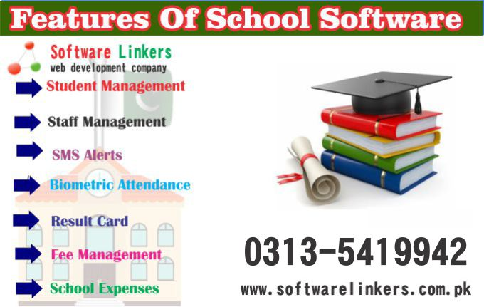 Features of School Software In Pakistan